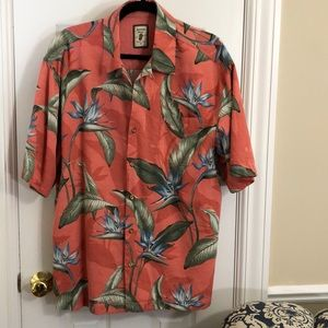 Silk bird of paradise Hawaiian shirt, Jamaica Jax